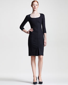 THE ROW Techno Stretch-Cotton Dress