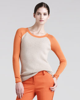 Reed Krakoff Thermal Baseball Sweater