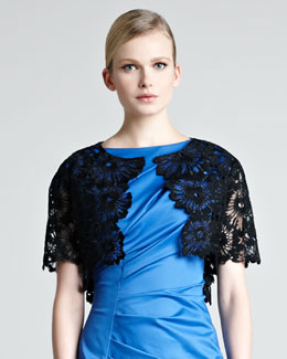 Lela Rose Lace Embroidered Bolero