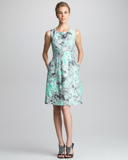 Lela Rose Classic Jacquard Dress