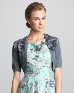 Lela Rose Rosette-Shoulder Shrug