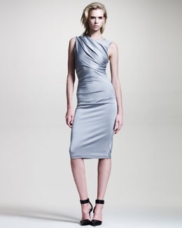 T by Alexander Wang Shiny Jersey Dress