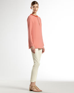 Gucci Jewel-Embroidered Silk Tunic