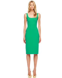 Michael Kors  Sleeveless Wool-Crepe Dress
