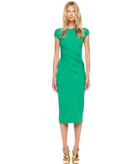 Michael Kors Wrapped Jersey Dress