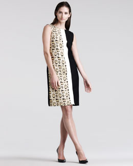 Giambattista Valli Mixed-Media Shift Dress