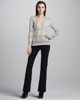 Burberry London Flared Stretch Jeans