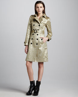 Burberry London Brocade Trenchcoat