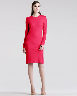 Maison Martin Margiela Long-Sleeve Jersey Sheath Dress