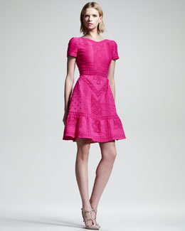Valentino Voulant-Hem Guipure Dress