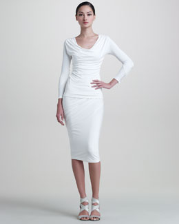 Donna Karan Jersey Draped Skirt