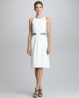 Giorgio Armani Silk Cady Sleeveless Dress