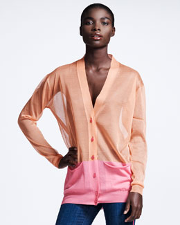 Stella McCartney Transparent Colorblock Cardigan