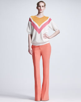 Stella McCartney Boot-Cut Cady Trousers
