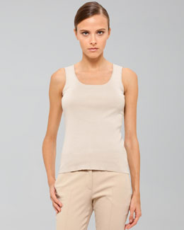 Akris Stretch Cotton Knit Tank, Cordage