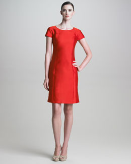 Armani Collezioni Short-Sleeve Gazar Dress