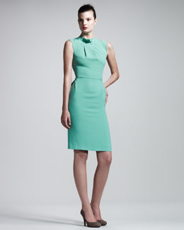 Roland Mouret Brise Noir Stretch-Crepe Dress, Mint Green