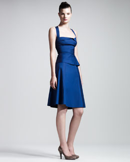 Roland Mouret Molokae Stretch-Poplin Dress
