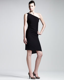 Roland Mouret Wimba One-Shoulder Jersey Dress