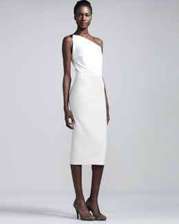 Roland Mouret Belmont Stretch-Crepe Dress