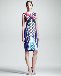 Peter Pilotto Stretch-Crepe X Dress