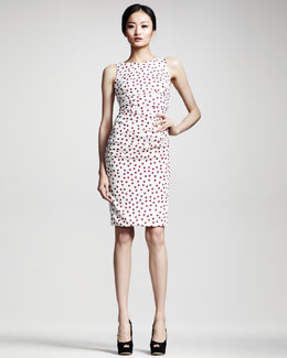 Dolce & Gabbana Polka-Dot Ruched Dress
