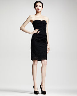 Dolce & Gabbana Strapless Lace-Front Dress