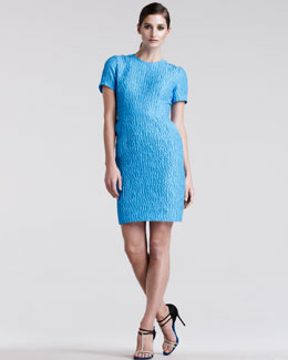 Jonathan Saunders Helen Jacquard Sheath Dress