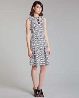 Marni Lattice-Print Poplin Dress