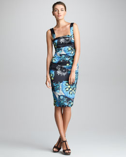Etro Detachable-Strap Sheath Dress, Black