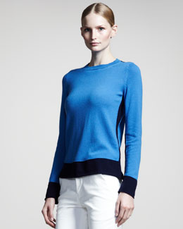 Jil Sander Colorblock Cashmere Sweater