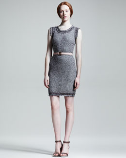 Fendi Metallic Cotton Knit Dress