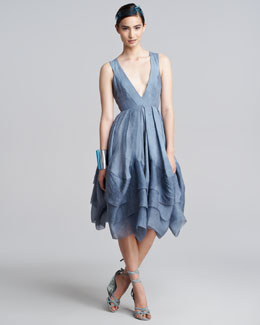 Donna Karan Plunging-Neck Dress, Tempest
