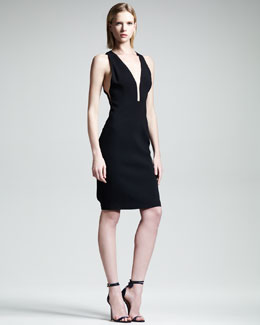 Alexander Wang Slim V-Neck Dress