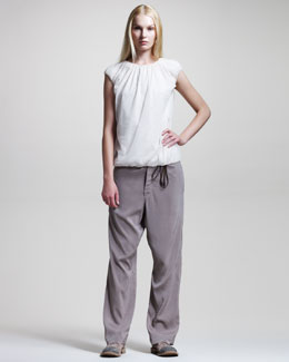 Brunello Cucinelli Wide-Leg Drawstring Pants