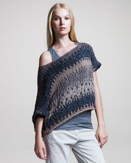 Brunello Cucinelli Striped Off-the-Shoulder Pullover