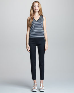 Jil Sander Navy Narrow-Leg Trousers