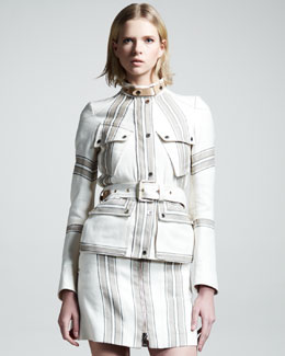 Belstaff Danforth Striped Zip Skirt