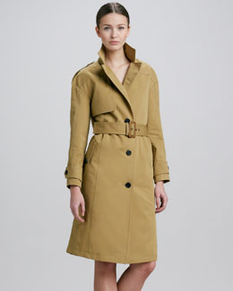 Derek Lam Cotton Trenchcoat