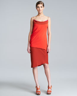 Narciso Rodriguez Double-Face Stretch Spaghetti-Strap Dress