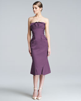 Zac Posen Strapless Duchess Satin Dress