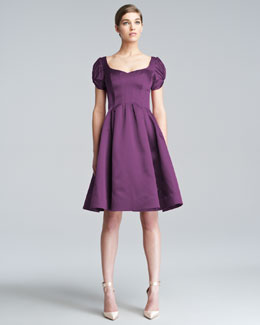 Zac Posen Flared Cloque Dress