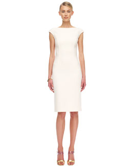 Michael Kors  Crepe Cap-Sleeve Sheath Dress