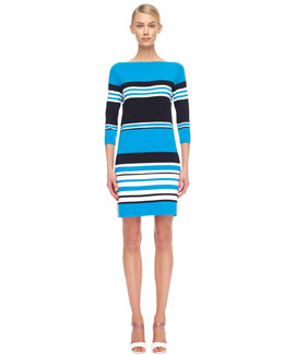 Michael Kors  Striped Cotton Dress