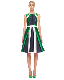Michael Kors  Colorblock Shantung Dress