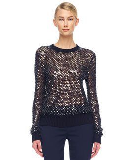 Michael Kors  Cashmere Paillette Sweater
