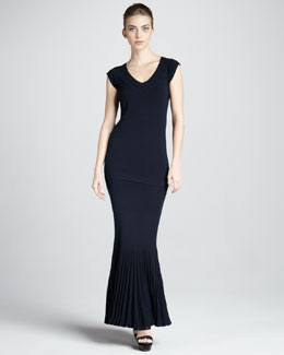 Donna Karan Strapless Pleated Infinity Skirt/Dress