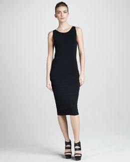 Donna Karan Sleeveless Bandage Dress, Navy