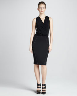 Donna Karan Pull-On Stretch Skirt, Black