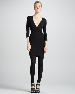 Donna Karan Twist-Drape Tunic Dress, Black